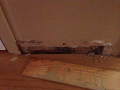 Souvent, l'inspection derrière les plinthes est essentiel pour identifier les dommages pré-existants